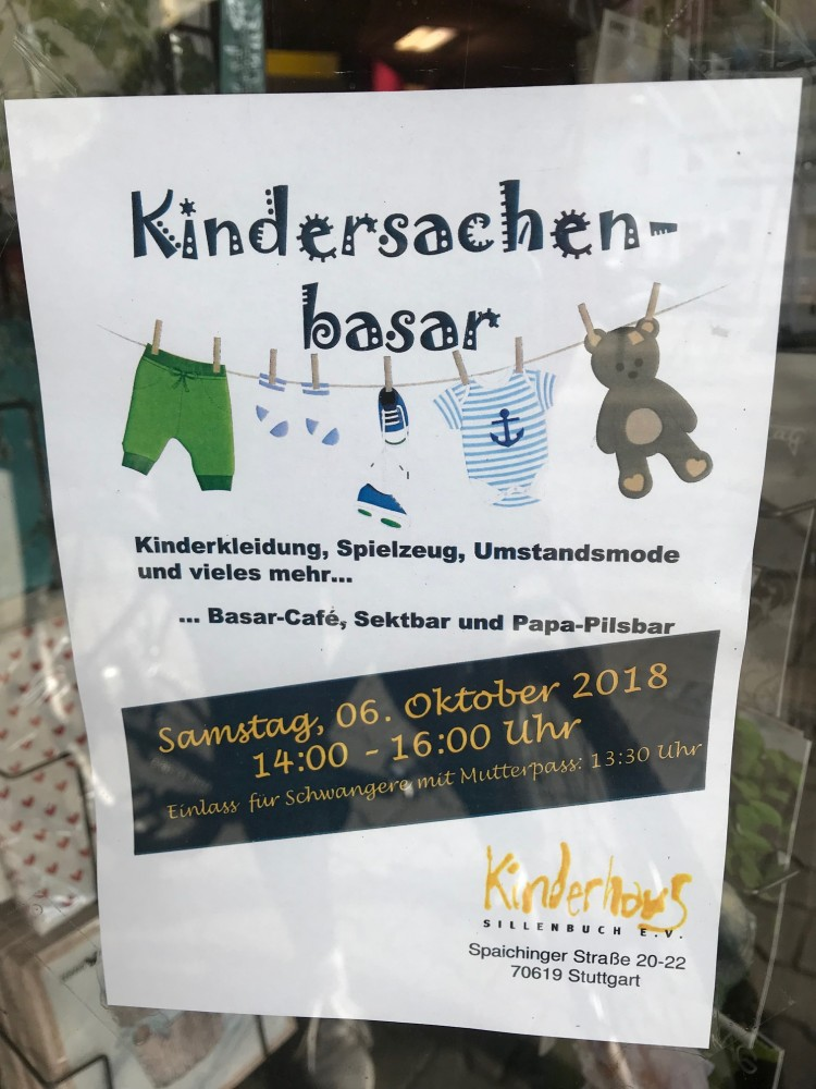 Kindersachenbazar_Childrens goods market_used goods